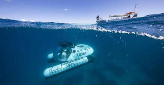 Check out the Great Barrier Reef with an underwater Uber