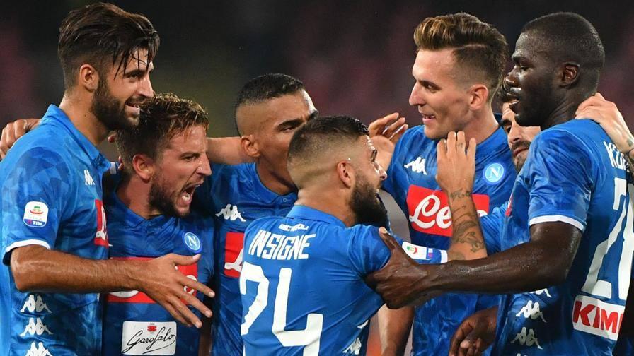 Serie A44; Napoli45;Milan 345;258; il tabellino