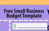 How to make small business budget templates