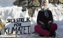 Protests against the world economic forum: climate Protest in Davos