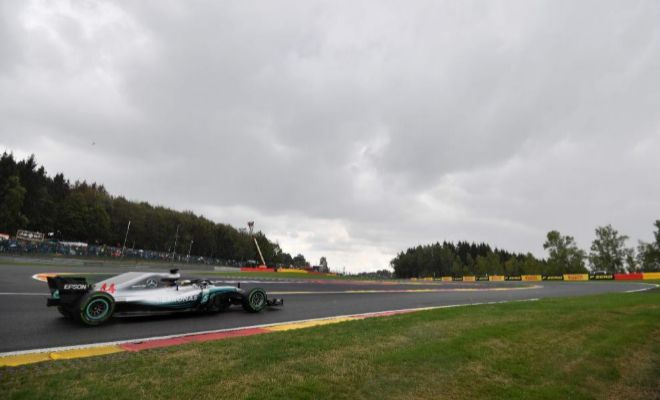 Water crazy Spa promotes Hamilton up to the pole
